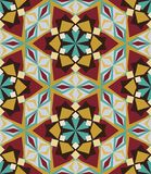 Kaleidoscope geometric gray and brown seamless pattern stock images