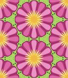 Kaleidoscope geometric pink and green seamless pattern royalty free stock images