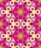 Kaleidoscope geometric pink seamless pattern stock images
