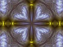 Kaleidoscope glazed. Shiny metallic kaleidoscopic cross shape vector illustration