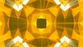 Kaleidoscope gold jewelry pattern background. 3d rendering.  stock illustration