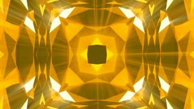 Kaleidoscope gold jewelry pattern background. 3d rendering.  Royalty Free Stock Images