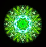 Kaleidoscope green Stock Images