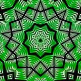 Kaleidoscope green white black Stock Photography