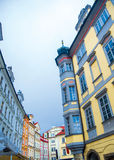 Kaleidoscope of houses in Old Town, Prague Stock Image
