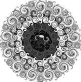 Kaleidoscope illustration with black and white. Stock Image