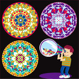 Kaleidoscope Kid Stock Photo
