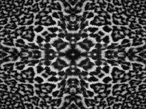Kaleidoscope Leopard Fur Pattern. Black and white kaleidoscope leopard fur pattern Royalty Free Stock Photo
