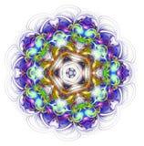 Kaleidoscope mandala isolated on white background Stock Photos