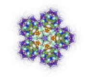 Kaleidoscope mandala isolated on white background Stock Photo