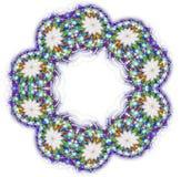 Kaleidoscope mandala isolated on white background Royalty Free Stock Image