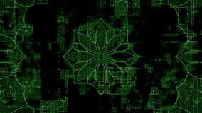 Kaleidoscope, matrix stock video