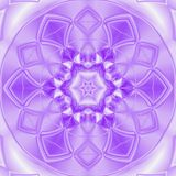 Kaleidoscope meditation in white and ultra violet floral tile mandala vector illustration
