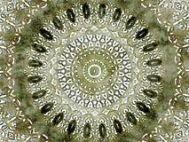 Kaleidoscope Mehndi style diamond design with circles watercolor illustration Royalty Free Stock Images