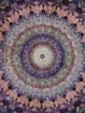 Kaleidoscope Mehndi style graphic design with circles watercolor illustration Royalty Free Stock Photos