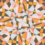 Kaleidoscope mosaic tile background vector pattern design. stock illustration