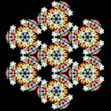 Kaleidoscope of new years decorations Stock Image