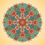 Kaleidoscope ornate on a light background. Round vector kaleidoscope ornate  pattern on a light background Royalty Free Stock Image