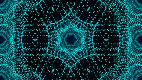 Kaleidoscope particles background. Abstract digital backdrop. 3d rendering Stock Illustration