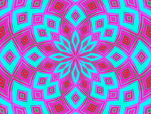 Kaleidoscope pattern royalty free illustration