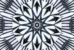 Kaleidoscope pattern abstract background. Architecture lines pattern. Architectural abstract fractal kaleidoscope background. Abst Stock Photos