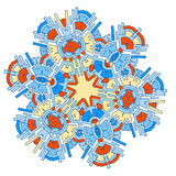 Kaleidoscope pattern Royalty Free Stock Image
