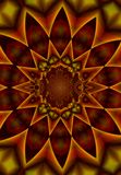 Kaleidoscope Pattern in Reds royalty free illustration