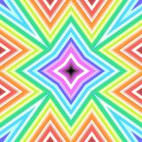 Kaleidoscope rainbow pattern with lots of angles vector illustration