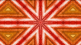 Kaleidoscope red disco. Abstract kaleidoscope, loop able, full HD stock footage