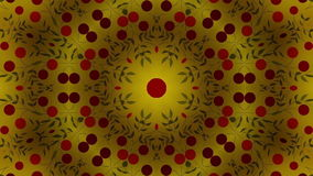 Kaleidoscope red dots. Abstract kaleidoscope, loop able, full HD stock footage