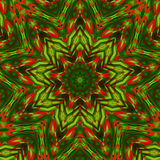 Kaleidoscope red green colors. Kaleidoscope designed for relaxing leisure Stock Photos