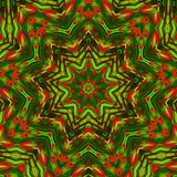 Kaleidoscope red green red colors. Kaleidoscope designed for relaxing leisure Stock Photography