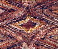kaleidoscope rock pattern Stock Image