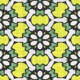 Kaleidoscope seamless pattern- autumn motive Royalty Free Stock Photos