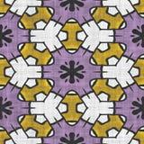 Kaleidoscope seamless pattern- autumn motive Royalty Free Stock Image