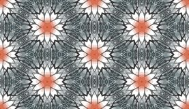 Kaleidoscope. Seamless pattern of colorful floral kaleidoscope. Vector illustration Royalty Free Stock Photos