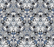 Kaleidoscope seamless pattern. Composed of abstract elements. Stock Image