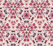 Kaleidoscope seamless pattern. Composed of color abstract elements located on a white background. Stock Photos