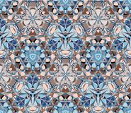 Kaleidoscope seamless pattern. Composed of color abstract shapes. Useful as design element for texture and artistic compositions Royalty Free Stock Photography