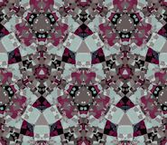 Kaleidoscope seamless pattern. Composed of color abstract shapes. Useful as design element for texture and artistic compositions Stock Images