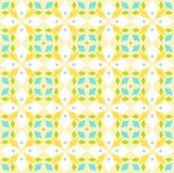 Kaleidoscope, seamless pattern, geometric, yellow, vec. tor stock image