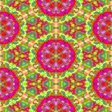 Kaleidoscope of seamless texture Royalty Free Stock Photos