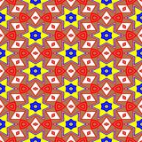 Kaleidoscope of seamless texture Royalty Free Stock Images