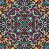 Kaleidoscope- spiegel geometrische elementen stock illustratie
