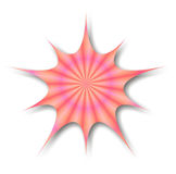 Kaleidoscope Splat. An illustration of a splat shape with shadow on white background with pretty design vector illustration