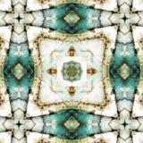Kaleidoscope square: chert layers, Oregon coast stock image
