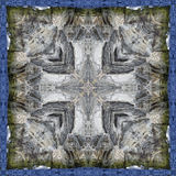 Kaleidoscope square: Newfoundland rock and water Royalty Free Stock Image