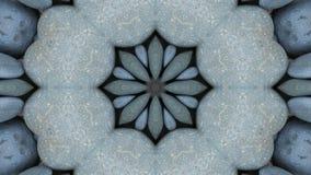 Kaleidoscope, stones stock footage