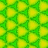 Abstract kaleidoscope triangle pattern in neon green and yellow Royalty Free Stock Photography
