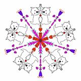 Kaleidoscope West Highland White Terrier. Kaleidoscope pattern with West Highland White Terriers with a heart design Stock Image